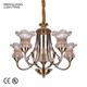 European Modern Flowers Frames Chandelier Crystals Pendant Light for Living Room