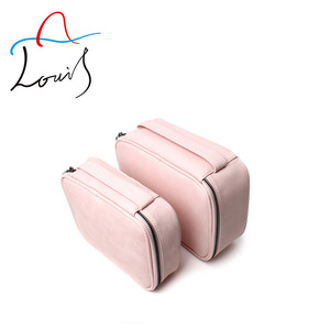 Korean multi-functional travel small cosmetic bag pu pink waterproof bag makeup cosmetic custom cute storage bags wholesale