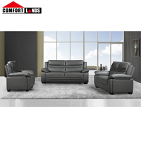 stylish villa furniture classic nice 1+2+3 leather nordic grey design fancy PU/PVC scandinavian corner sofa set