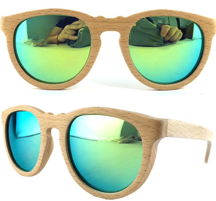 9e1a1f6ce3ed5 Cinza armação de faia Óculos de sol de Gatinho monóculo polarizada masculinos  Oculos madeira