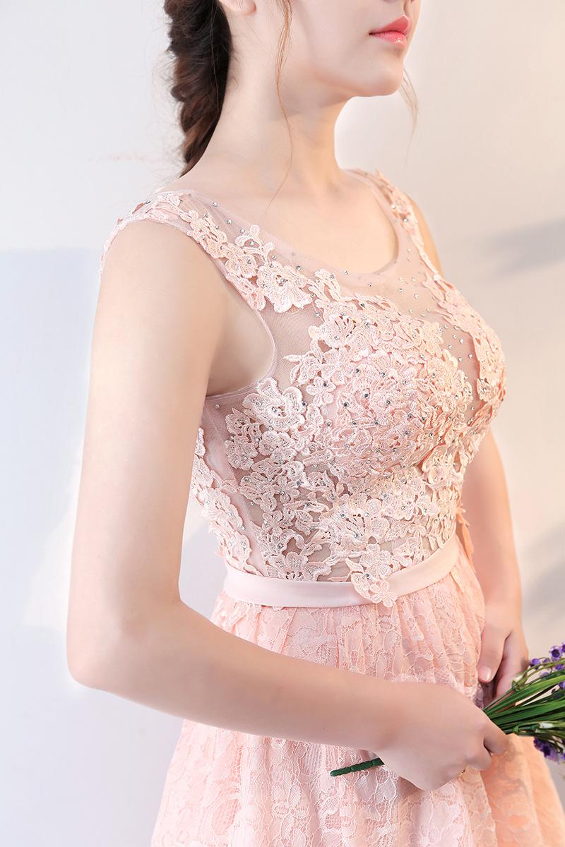 2018 frühling elegante rosa spitze cocktail kleid kurze vordere lange  zurück abendkleid - buy kurze vordere lange zurück cocktailkleid,kurze  vordere