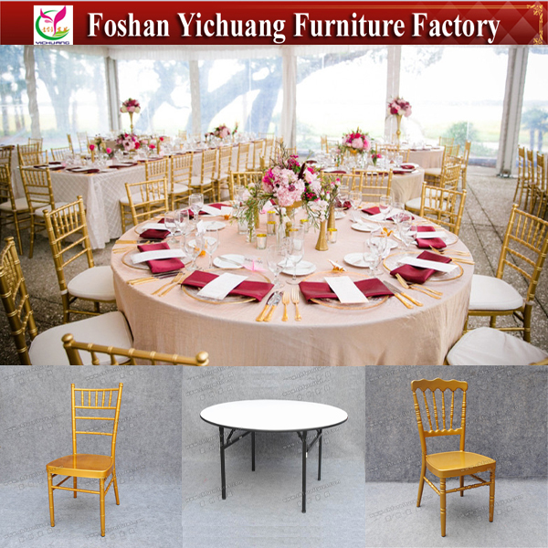 Foshan China portable high quality 6ft Round event dining wedding table YC-T200