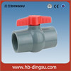Healthy pvc /platic ball valve free of stain and scale thread and slip