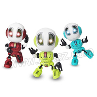 button cell battery Operated mini pocket talking musical Toy robot kids robot toy