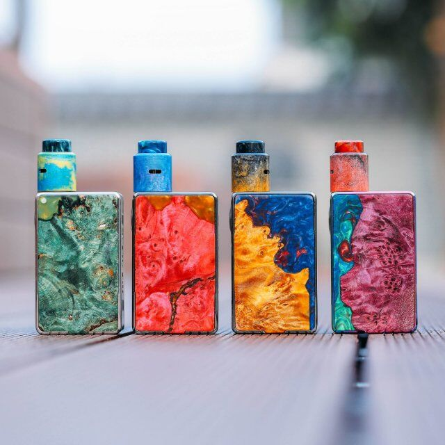 Authentic resin Stab wood box mod interchangeable faceplates two system big screen 0.9 OLED Funky 160w mod фото