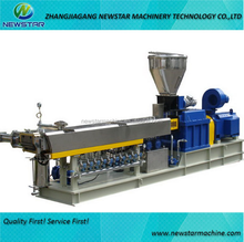 Plastic granules parallel co-rotating twin screw extruder making machine