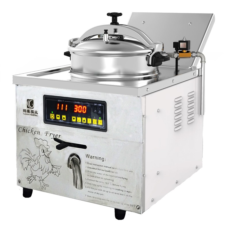 16L Industrie Friteuse Broaster Druck Friteuse Huhn Express