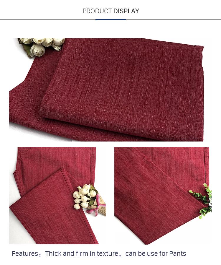 New Style Cotton Polyester Slub Woven Fabric