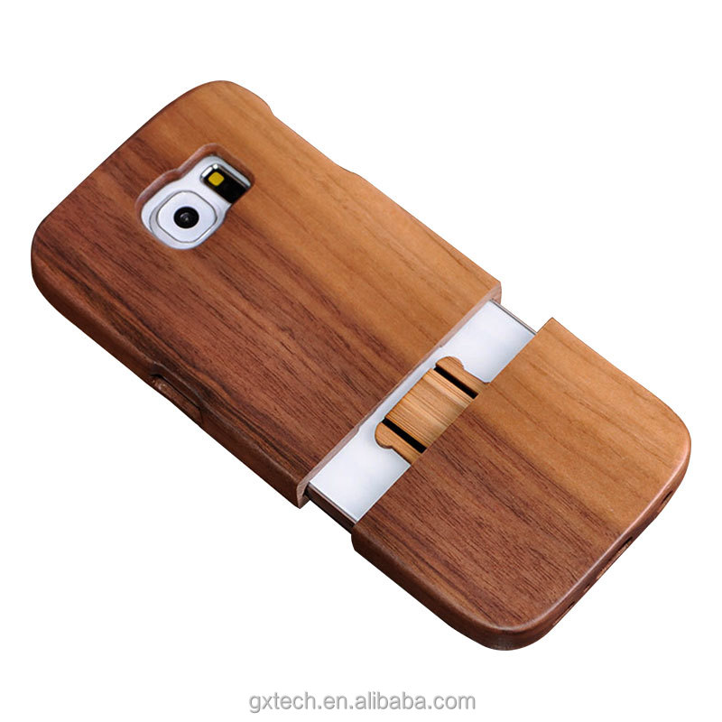 High Quality Wooden Detachable Cellular / Cell Phone Protective Case / Shell / Cover for Samsung S6