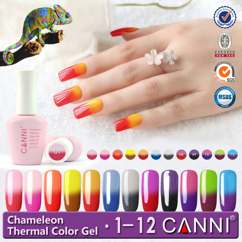 50423j Canni Temperature Chameleon Mood Changing Colors Uv Nail Gel ...