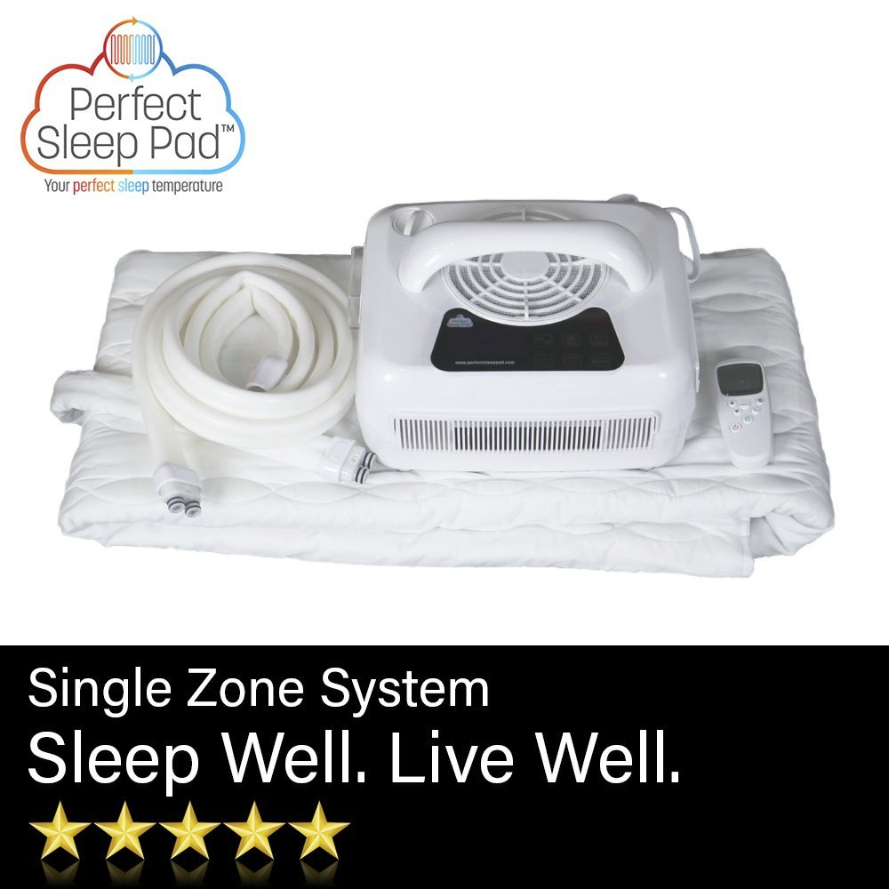 Perfect Sleep Pad - Heating and Cooling Mattress Pad for Sleep Deprivation and Sleep Disorders, Best Sleep Aiding Pad for Bed with Temperature Controlled Water System (Double Size - 53″ x 75″)