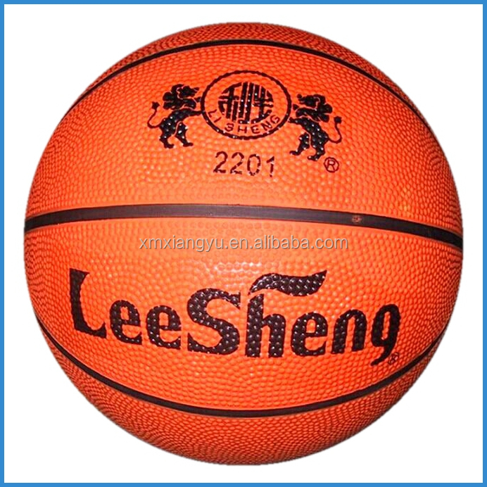 orange colour inflatable rubber basketball, basketball accessories