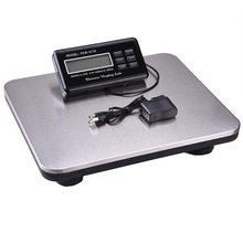 New 660lbs 300kg lcd ac digital floor platform scale bench postal shipping weight scale