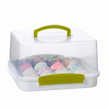 PP Plastic Square Cake Carrier With FDA/LFGB BPA Free clear plastic cake box