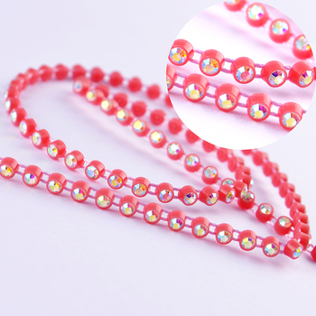 CJ Crystal Special Wholesale 6 Row SS12 Colorful Crystal Rhinestone Banding Wedding Decoration, Cake Banding, Arts & Crafts