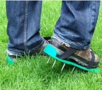 Lawn aerator shoes , spikes shoes for aerating your lawn