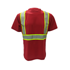New Style High Visibility Reflective Warning Safety T-Shirt Short Sleeves Customized Printing Logo