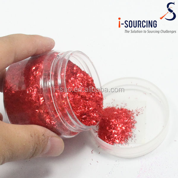 Polyester glitter powder for mother's day card decoration which filling loves