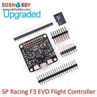 New Generation of Aircraft Flight Controller SP Racing F3 Upgraded Version EVO Including 4GB Micro SD Card for QAV Racing Drones