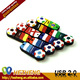 Novelty Cartoon USB 4GB Football Club Memory Stick Download Customized Bulk Gifts