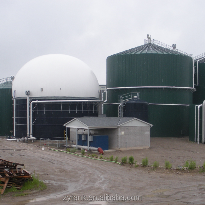 GLS / GFS bolted digester tank for biogas anaerobic reactor