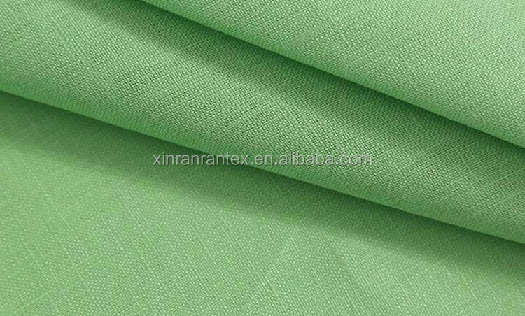 marketing sales high quality weaving plain dyed 100% bulk linenfabric for mes shirt customized accepted