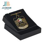 2018 years New design 999 goldplating etching UAE eagle metal charms bookmark Necklace with gift box