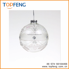 christmas ornaments transparent glass ball/ 100 wholesale clear glass christmas ball ornaments