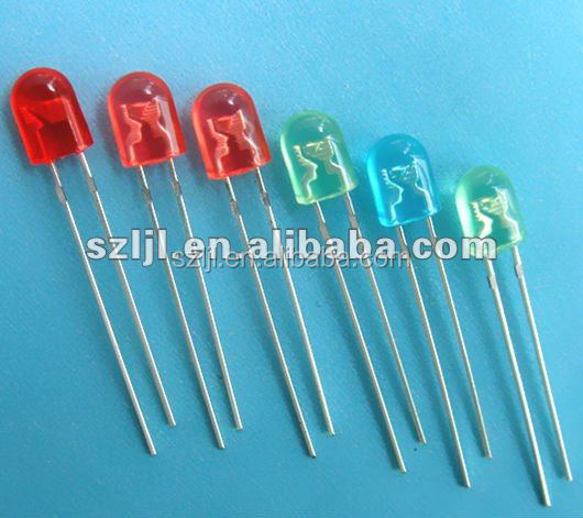 3mm Round Flashing LED Diode Oval Through Hole Led Diode
