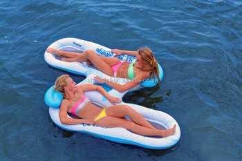 Matelas gonflable de plage de pvc flottant double chaise longue doux matelas buy ananas - Matelas de plage gonflable ...