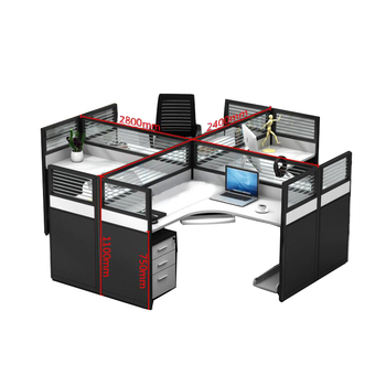 Modern Office Furniture 4 Seat/person Modular Desk Table Partition Office  Workstations Cubicle