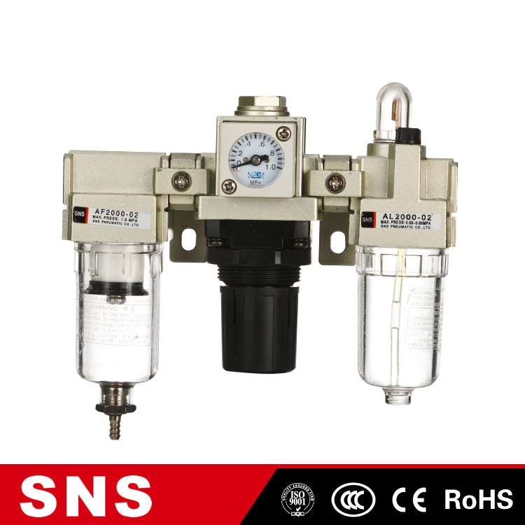 SNS pneumatic three union air source treatment units filter combination components