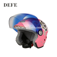 Popular half face pink accessories pc visor abs motorcycle helmets
