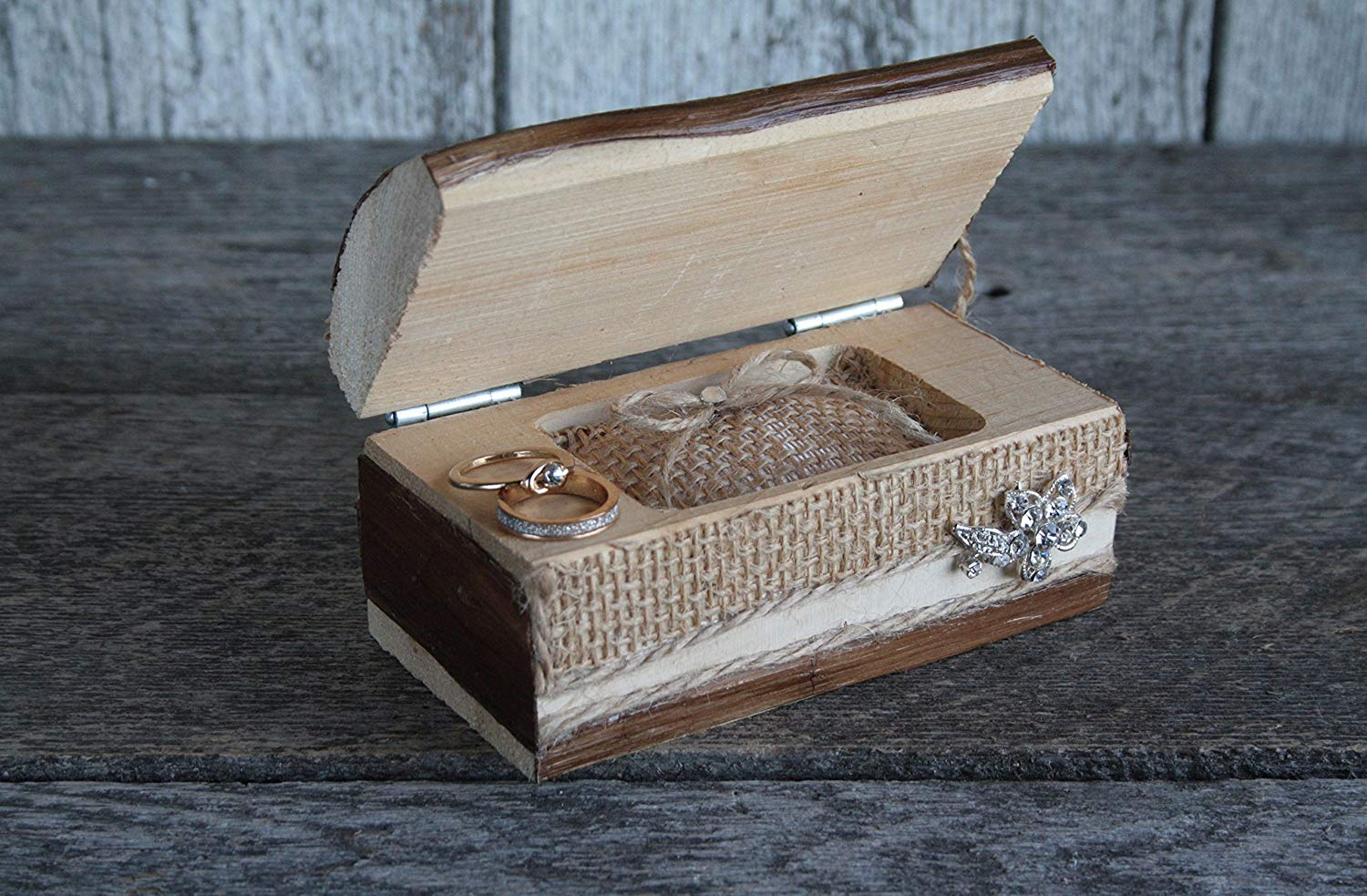 4622ace839 Get Quotations · Engagement ring box, Ring bearer box, Ring bearer pillow  alternative, Rustic wedding ring