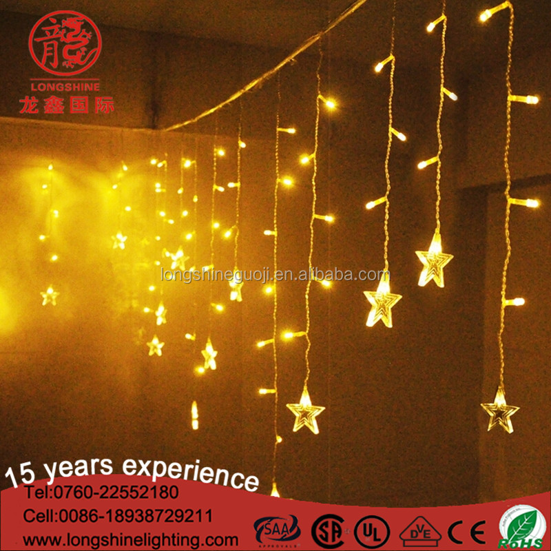 Outdoor LED decoration icicle christmas light for holiday CE ROHS