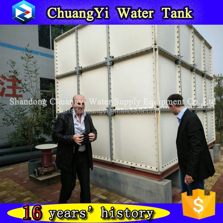 Professional customized Fiberglass Reinforced plastic toilet water tank for sale