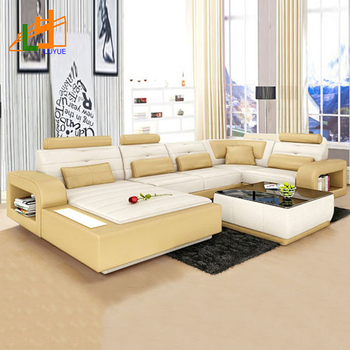 Good Products Modern Genuine Leather Sofa Luxury Furniture Drawing Room Set Design