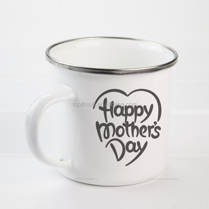 Blank white Enamel coffee Mug for sublimation