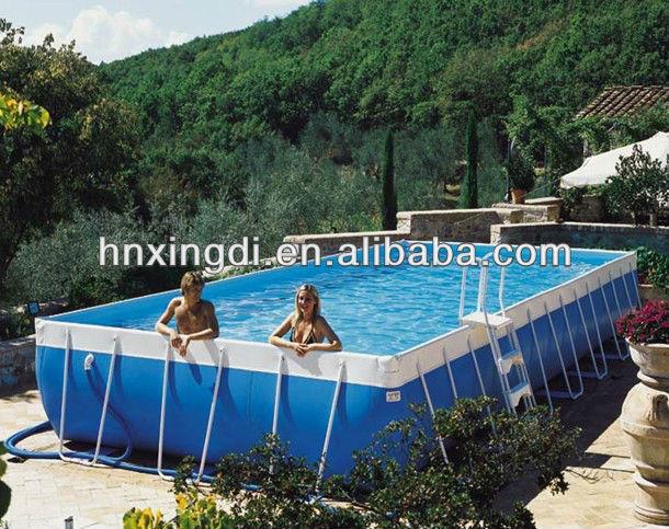 Mini piscina rettangolare fuori terra piscina cornice for Piscinas de 6000 litros