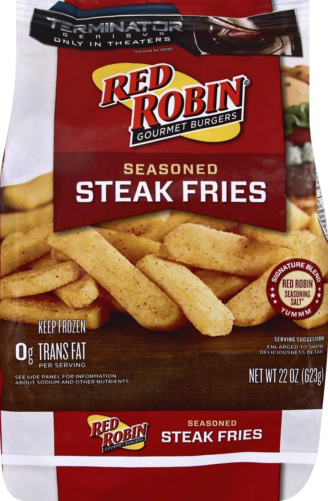 Red Robin, Seasoned Steak Fries, 22 oz (Frozen)