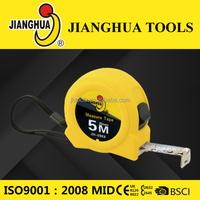 JHTOOLS high quality free sample measuring tools plastic grip measure tape measures