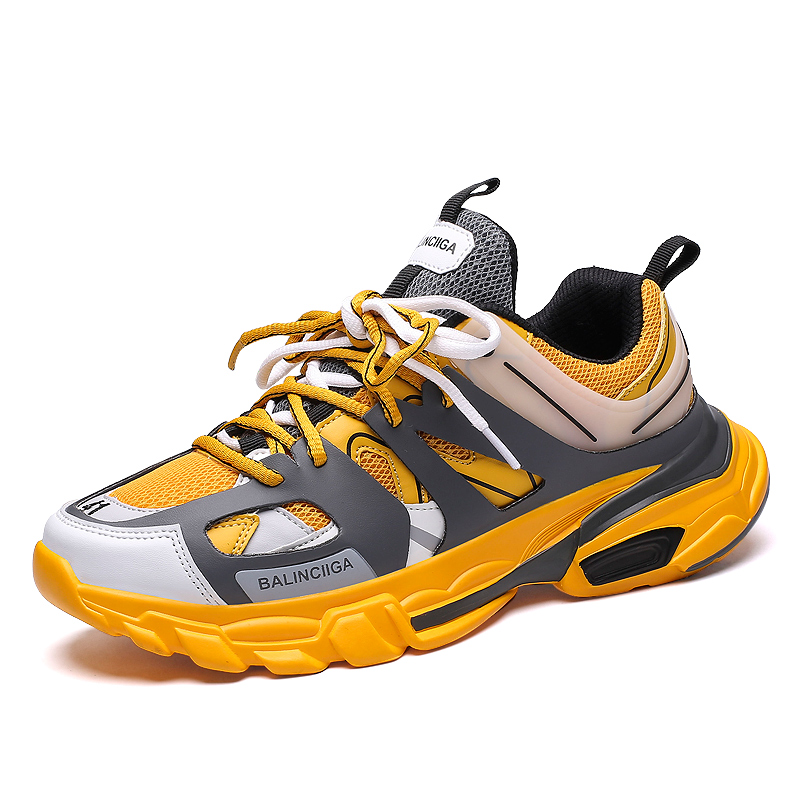 China Custom Made Top Brand Balanciaga High Quality Fashion Adult Running Sport shoes for Man, Yellow;blue;black;white