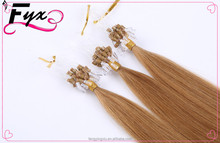 New Years Hot Sales 27# The Hair on The Micro-Rings Virgin Micro Loop Hair Extensions 1g/s Micro Links Hair Extension Human