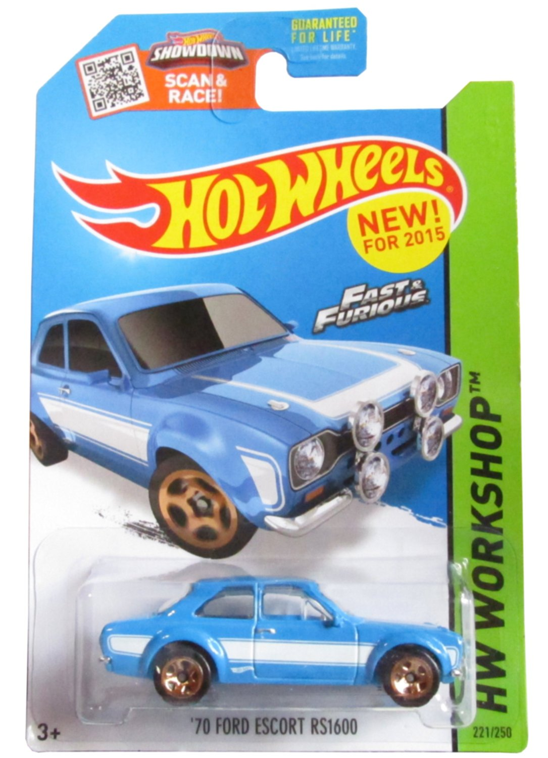 Get Quotations · 2015 Hot Wheels Fast and Furious 70 Ford Escort Rs1600  221/250