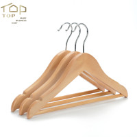 Luxury Kids Solid Wood Hangers Children Non-slip Wooden Clothes Hanger Deluxe Wood Clothing Racks