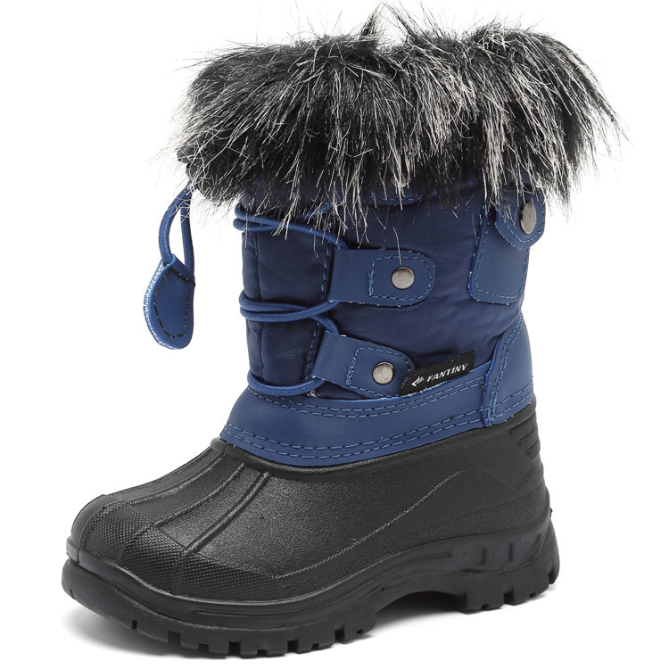 High Quality Anti-Slip With Fur Lined Children Boots Kids