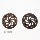 Hot Sale Newest Fashion Wood Hoop Earrings Hollow Earrings for Women