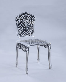 New design living room furniture acrylic silk screen chair