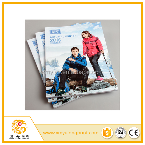 custom magazine booklet book brochure color printing with pefect binding or saddle stitching