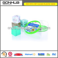 Fashion wholesale high quality eco-friendly odm/oem top grade CMYK or Pantone PP small clear plastic gift box